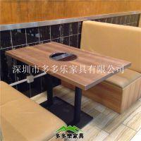 深圳厂家供应 中式火锅桌椅 板式火锅桌椅 多多乐家具