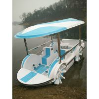 河南省付友玻璃钢船厂 厂家直销 430四轮脚踏船 公园游船