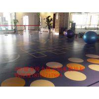 上海私教地板 健身房地胶 定制运动地板 LOGO定做