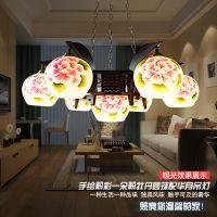 厂家景德镇陶瓷灯具批发 田园中式吊灯7头客厅餐厅灯装饰家居灯饰