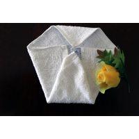 厂家直批酒店用白色小方巾全棉方巾餐厅擦手抹布 幼儿园毛巾批发