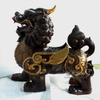 55厘米大号铜貔貅招财摆件 紫铜色霸王貔貅 厂家直销