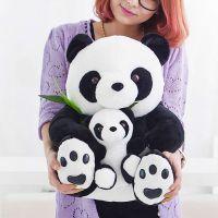 国宝大熊猫公仔母子熊猫亲子竹叶熊猫毛绒玩具趴趴熊猫女生日礼物