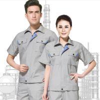 青岛防静电工作服|李沧区职业装批发|建筑人员夏季短袖工作服