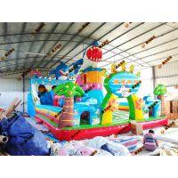 大型充气儿童城堡蹦蹦床/充气儿童滑梯款/定做各种面积充气城堡