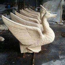 小区园林石雕景观摆件动物 水景装饰喷水动物砂岩中式雕塑广州砂岩艺术厂家