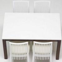 现代风西餐厅时尚白色大理石西餐桌 中高档餐厅优质石西餐桌