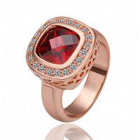 速卖通爆款韩国饰品镂空镶钻方形水晶戒指1360