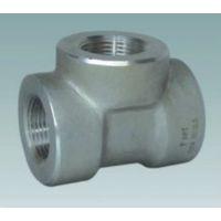 供应不锈钢螺纹三通 四通 不锈钢异径三通 螺纹管件 承插管件