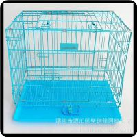 包邮 加粗折叠宠物笼子泰迪狗笼 尖顶 圆顶铁丝笼 狗屋猫笼 天窗