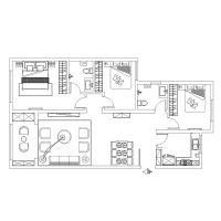 【保利·叶公馆】三居室119平简欧装修|青岛实创装饰