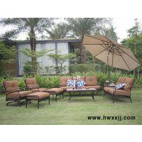 深圳别墅花园休闲桌椅,别墅庭院躺椅,别墅户外遮阳伞