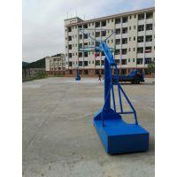 中山国际标准凹箱篮球架 地埋式圆管球架 平箱架子厂家东莞康腾体育