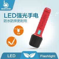 新型工业LED手电筒超强防水强光探照灯户外远光充电小电筒SP-1