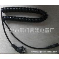 厂家批发 国标弹簧线 优质品字尾电脑电源线插头线 主机使用1.5米