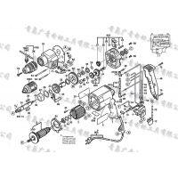 BOSCH博世GSB20-2RE冲击钻转子 定子 开关 碳刷 冲击块 齿轮 碳刷