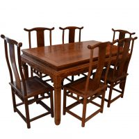 【东煌古典家具】专业供应 古典明清家具 虎脚餐桌7件套