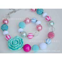 外贸直销彩色儿童项链批发 饰品外贸货源 速卖通 chunky necklace