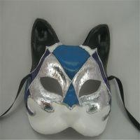 供应化妆舞会道具手绘纸浆动物面具节日假面舞会面具定制
