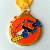 广东厂家直供金属锌合金填色奖牌 个性创意古铜外贸奖牌