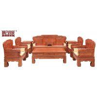 供应广东广州帝豪红木家具店 花梨木家具保养 古典组合 紫韵清风沙发