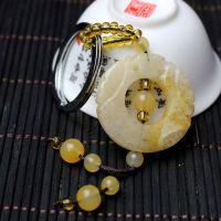 【厂家批发】转运钥匙扣 天然黄玉钥匙扣批发 宝石挂件小饰品