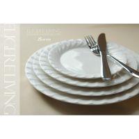 Luzerne外贸原单陶瓷餐盘碗餐具套装 西餐牛排盘汤盆汤碗咖啡杯