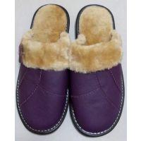 2014年冬季室内家居地板拖鞋海宁皮革城牛皮冬季拖鞋厂价直销