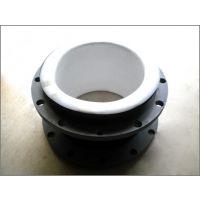 衬四氟橡胶软接头,内衬PTFE橡胶接头,白色聚四氟乙烯管接头