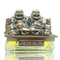 EDS正品高级车用进口香料香水座之古铜弥勒双佛座招财进宝 72017