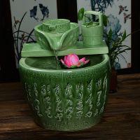 陶瓷喷泉流水工艺品加湿器家居摆设风水轮招财摆件创意鱼缸流水器