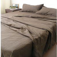 纯棉老粗布四件套特价 纯色床单被罩床品四件套