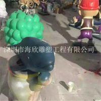 玻璃钢鲨鱼雕塑树脂卡通电影动漫摆件海洋主题海鱼雕塑海龟动物雕塑