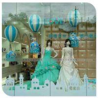 供应婚庆影楼橱窗气球道具制作厂家 婚纱影楼橱窗气球美陈装饰布置道具