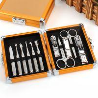 不锈钢电镀11件指甲刀套装 指甲剪指甲钳美甲修甲修脚工具装