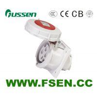 ZJ-fsen富森机柜插座 16a 6位专用电源插排工业三叉插头冷冻柜集装箱插座箱