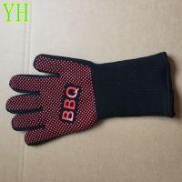 现货供应 BBQ 针织烧烤手套 五指防热手套 防护手套工厂直销