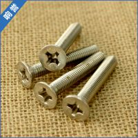 厂家直销 GB819不锈钢平头十字机螺丝 平头不锈钢螺丝