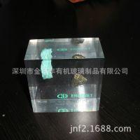 承接加工上海水晶胶内嵌工艺品 水晶胶内嵌雨花石纪念品LOGO印刷