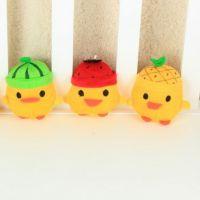 夏季批发水果小鸡挂件创意卡通毛绒玩具 可加工定制 招代理