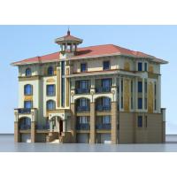 欧式风格二层精美舒适小型别墅平面图23.9x15.2米