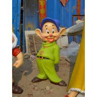 白雪公主与小矮人现货玻璃钢卡通雕塑 河北坤龙雕塑厂家直销