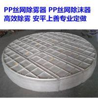 烟气脱硫防酸PP除雾器丝网价格 厚度100-400 可带上下骨架 安平上善