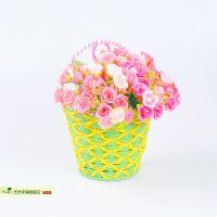 欧式壁挂花艺套装假花绢花客厅装饰花仿真花 墙面装饰花篮 批发