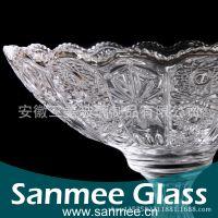 蚌埠工厂供应三美精美家用盘子  刻花玻璃盘子 家用畅销 出口欧美