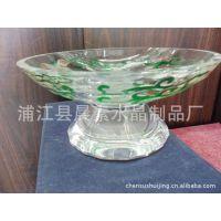 热销新款 中式水晶果盘 多色果盘 透明水果盘  果盘KTV酒吧