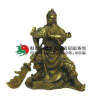 人物铜雕 各种材质的诚市铜雕人物大刀关公 TDR-045 关公铜像