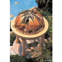 方贸园林定做广州欧式球形铁艺特色凉亭(树叶、鳞片、栅格)等形状