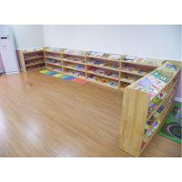 专业定制幼儿园简易实木书报架儿童阅读架,大林宝宝