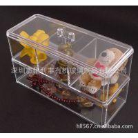 直销 批发亚克力化妆盒 透明化妆盒 透明首饰盒 有机玻璃工艺盒